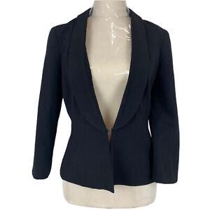 Portmans Status Womens Black Single Hook Lined Jacket Size 10