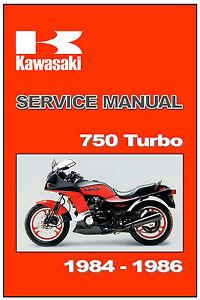 kawasaki workshop manual zx750e gpz750 750 turbo 1984 1985 1986 rh ebay com gpz 750 service manual kawasaki gpz 750 service manual
