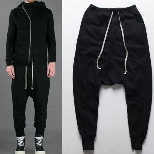 Hot Men/'s Sweatpants Baggy Jogging Drop Crotch Casual Loose Fit Pants Trousers