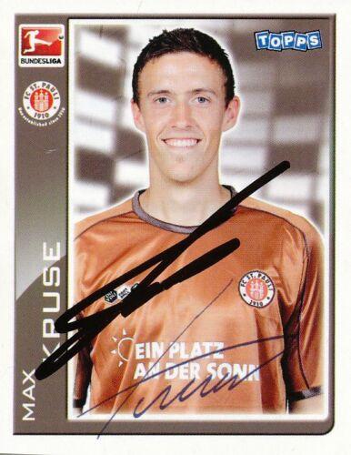 269298 Max Kruse  FC St.Pauli  Topps Sticker signiert