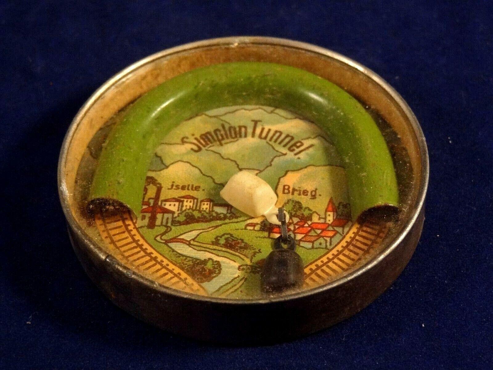 Ancien rare jeu  d'aRobee pacravatence café train rails tunnel Gerhommey Années 20  nouveau style