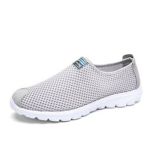 Men-039-s-Breathable-Mesh-Shoes-Casual-Slip-On-Loafers-Low-Top-Walking-Flat-Sneakers