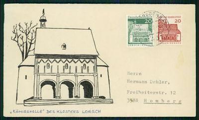 Ea24 Eine Hohe Bewunderung Gewinnen 491 Kloster Lorsch Handgezeichneter Umschlag Unikat ! Brd Dauerserie 456