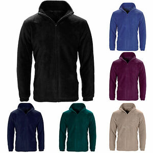 MENS WOMEN LADIES UNISEX POLAR POLO FLEECE JACKET ANTI PILL MICRO WORK COAT TOP