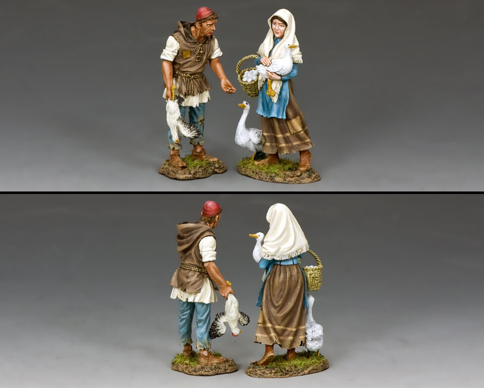 KING AND COUNTRY Poor Down Trodden Peasants Set - Robin Hood Series RH023 RH23