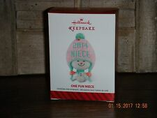 Hallmark Ornament ~ONE FUN NIECE~                                          (2016