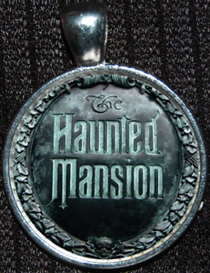 Haunted Mansion Entrance Plaque Jewelry Disney Silver Gift Pendant Necklace