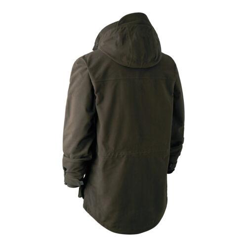 Deerhunter Gamekeeper Jacket da uomo Pro SHOOTING Impermeabile Torba Cappotto Verde