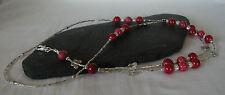 """Scarlett Butterfly"" Glass Beads Handmade ID Lanyard Badge Holder"