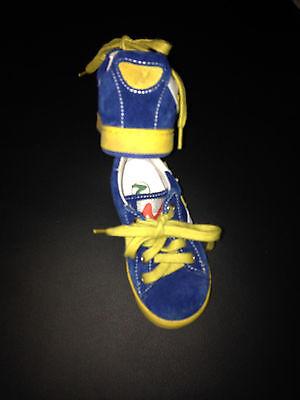Wildleder-Sneaker blau/gelb Gr. 21