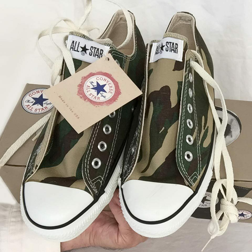 Vintage USA-MADE Converse All Star Chuck Taylor zapatos 9.5 camouflage NEW-IN-BOX