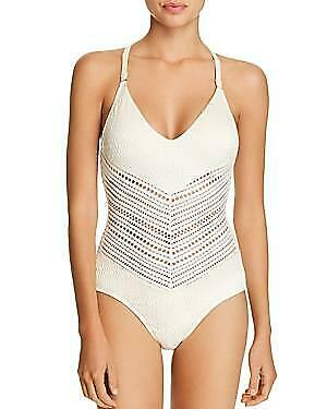 146 NWT Robin Piccone White Perla One Piece Swimsuit 6 tfe11
