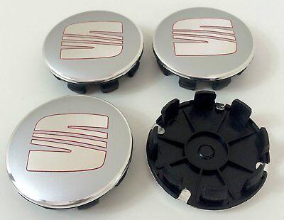 4 Tappi Coprimozzo SEAT SPORT Accessori ruote Borchie Cerchi in Lega 63 mm