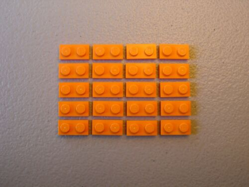 LEGO NEW Orange Plate 1x2 Lot x20 Ninjago Friends Elves Creator City Parts 3023