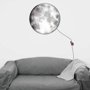 XXL-Lune-Applique-Murale-3D-Intensite-Variable-70cm-Designer-Lampe