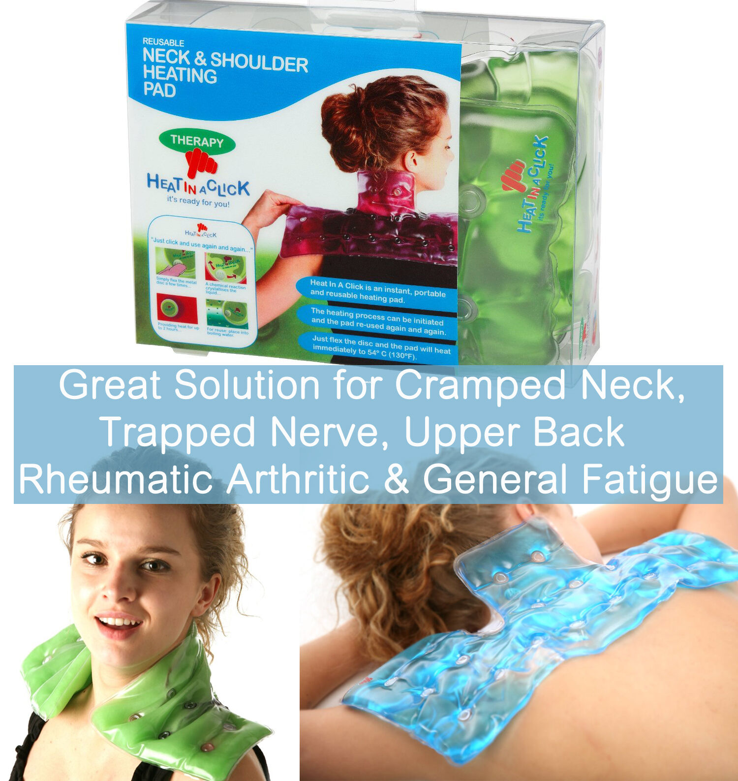 Heat in a Click ReUseable Neck & Shoulder Heating Pad ...