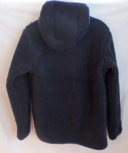Lands End Kids Jacket Sherpa Fleece Size L 14-16 Heavy Hooded Coat Blue or Green