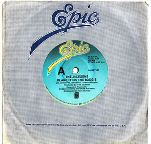 THE-JACKSONS-BLAME-IT-ON-THE-BOOGIE-Very-rare-1978-Aussie-Single-Release