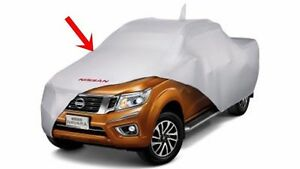 GENUINE-SILVER-POLYESTER-CAR-COVER-NISSAN-NAVARA-NP300-2015-DOUBLE-CAB-ONLY