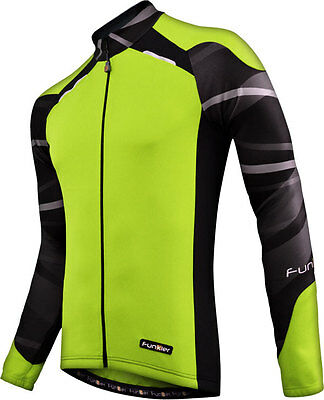 2014 Funkier Long Sleeve Cycling Jersey / Top - Yellow  - J730