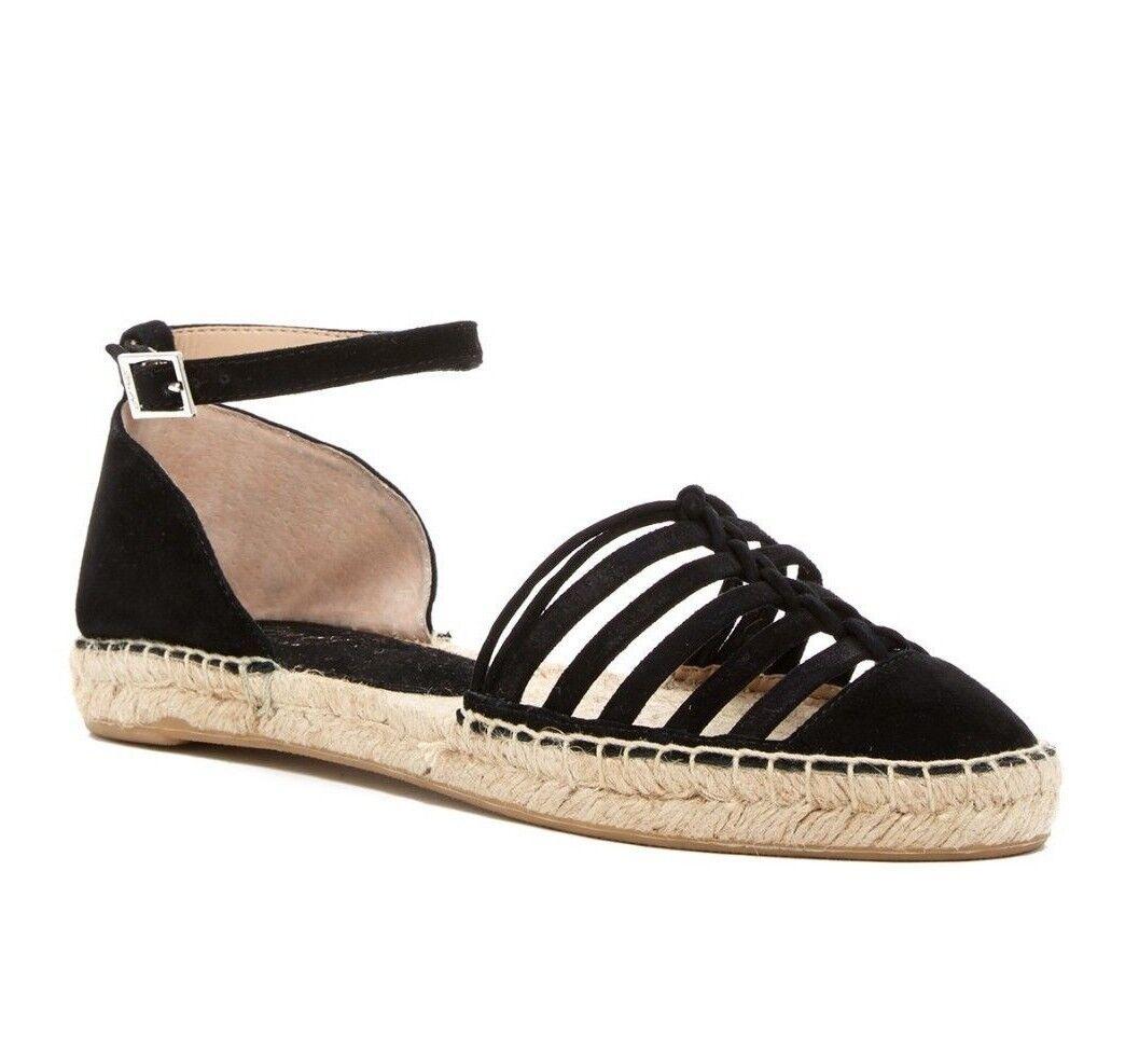 Jewel Jewel Jewel Badgley Mischka Women's Columbia Espadrille Flat Black Strappy Size 7.5 d1c1da