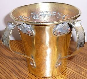 Antique brass two-handled washing or ceremonial vessel. Purchased in the 1970s.