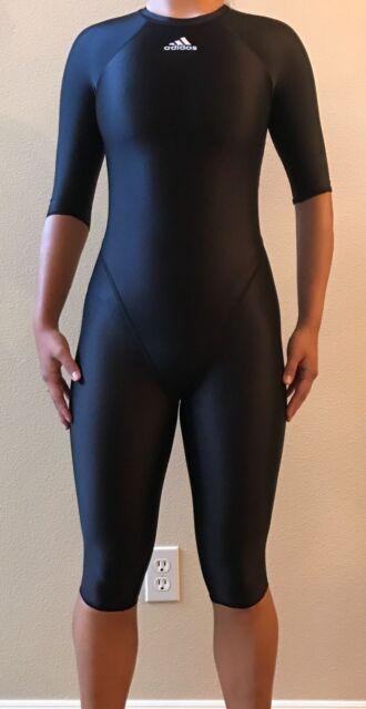 black adidas full body swimsuit