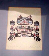 """First Nations Richard Hunt Artist """"Kwa Gulth Beaver"""" print hand signed Framed"""