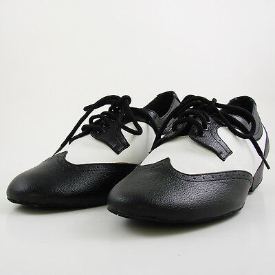 Real Leather Flats Modern dance shoes Tango Party Wedding Square dance shoes