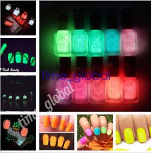 Image Is Loading Fluorescent Neon Luminous Nail Polish Glow In Dark