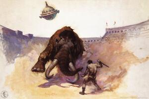 Mastodon-by-Frank-Frazetta-Art-Print-Poster-12x18-inch