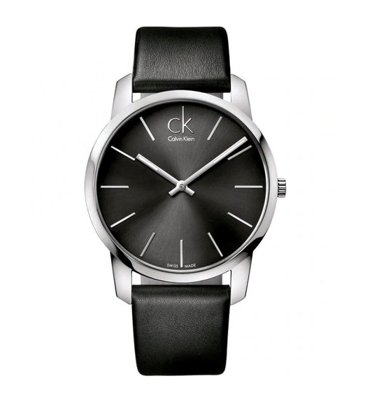 Calvin Klein Mens Watch K2G21107 Black Leather Band, 42mm, Swiss Made, RRP$269