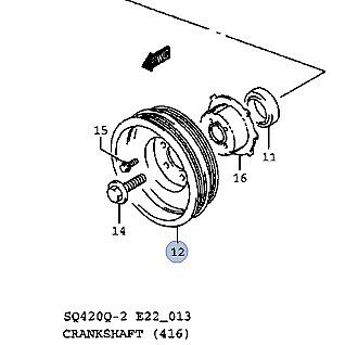Suzuki Grand Vitara 1998-2003 1.6 Crank Crankshaft Damper TVD Pulley