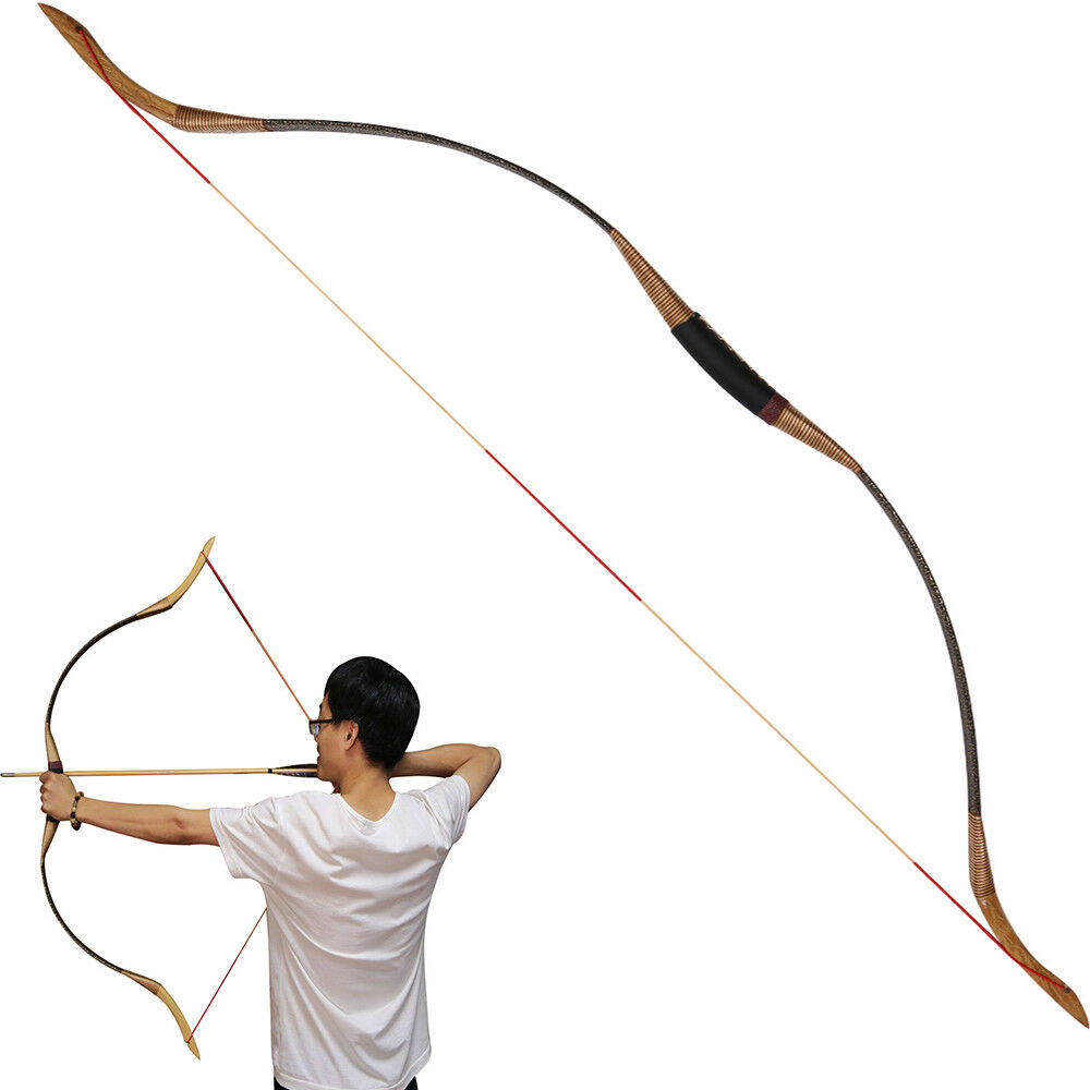 30-50lbs 54  Archery Hunting Traditional Both Hand Recurve Bow Shooting Longbow