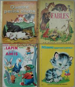 Lot De 4 Livres Pour Enfants Collection Un Petit Livre D Or Ronde Des Animaux Ebay