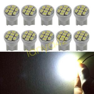 10 Stk LED Auto Instrumente Glühlampe T10 194 Tachobeleuchtung Innen Lampen Weiß