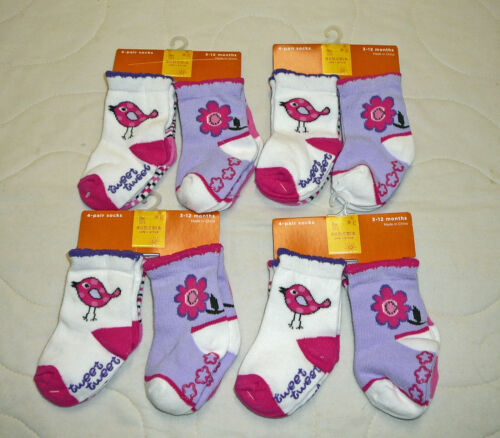 Lot Sonoma Socks 3-12 months Gripper No Slip Girls Baby Children Toddler Kids