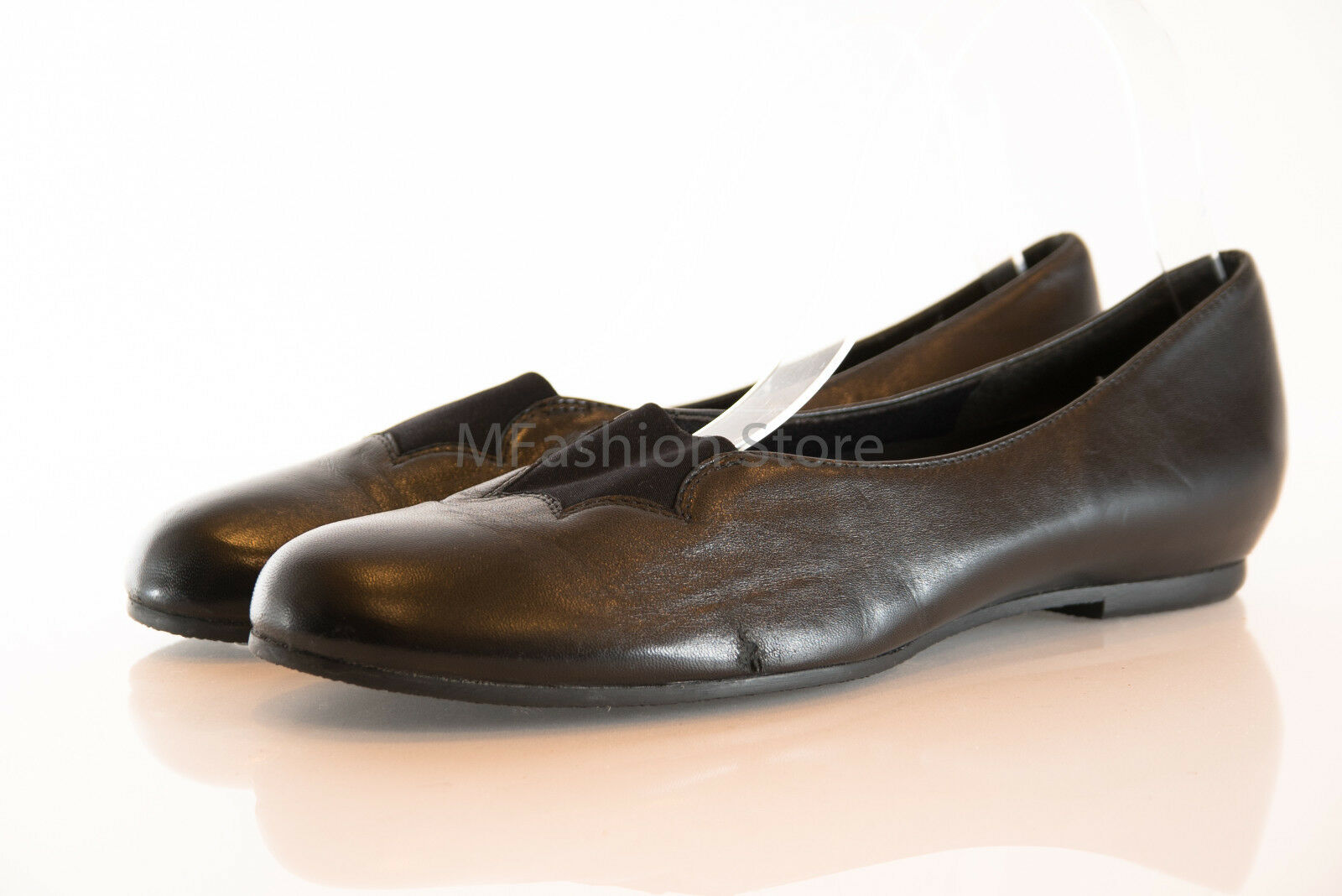 MUNRO Black Leather Loafers / Slip On Womens Shoes Size US 7N & 9.5N New