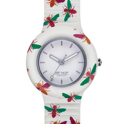 Orologio HIP HOP ANIMALS ADDICTED HWU0867 32mm Silicone Bianco Colorato Api