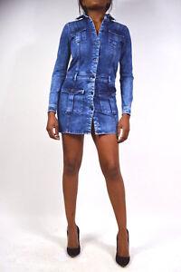 Jeans kleid langarm