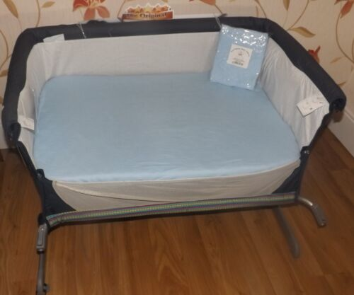 2 x Baby Crib Fitted Sheets to fit Chicco Next2Me Crib 100/% Cotton