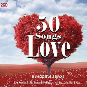 2CD-50-Chansons-Love-Romantique-Music-Musica-D-039-Amore-Ben-E-King-Frank-Sinatra