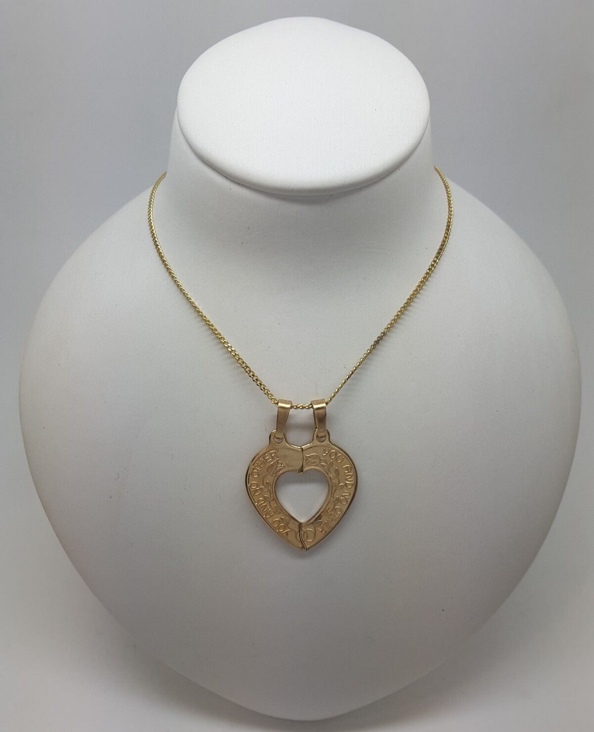 Miran 080095 9K gold You And No Other Cut Out Heart Break Pendant RRP  186