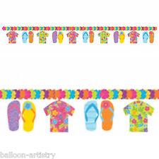 2.3m Tropical Hawaiian Flip Flops Shirts Summer Party Flower Garland Decoration