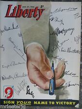 Canadian Liberty Magazine  October 27,1945  R Y Wilson Cover VINTAGE ADS