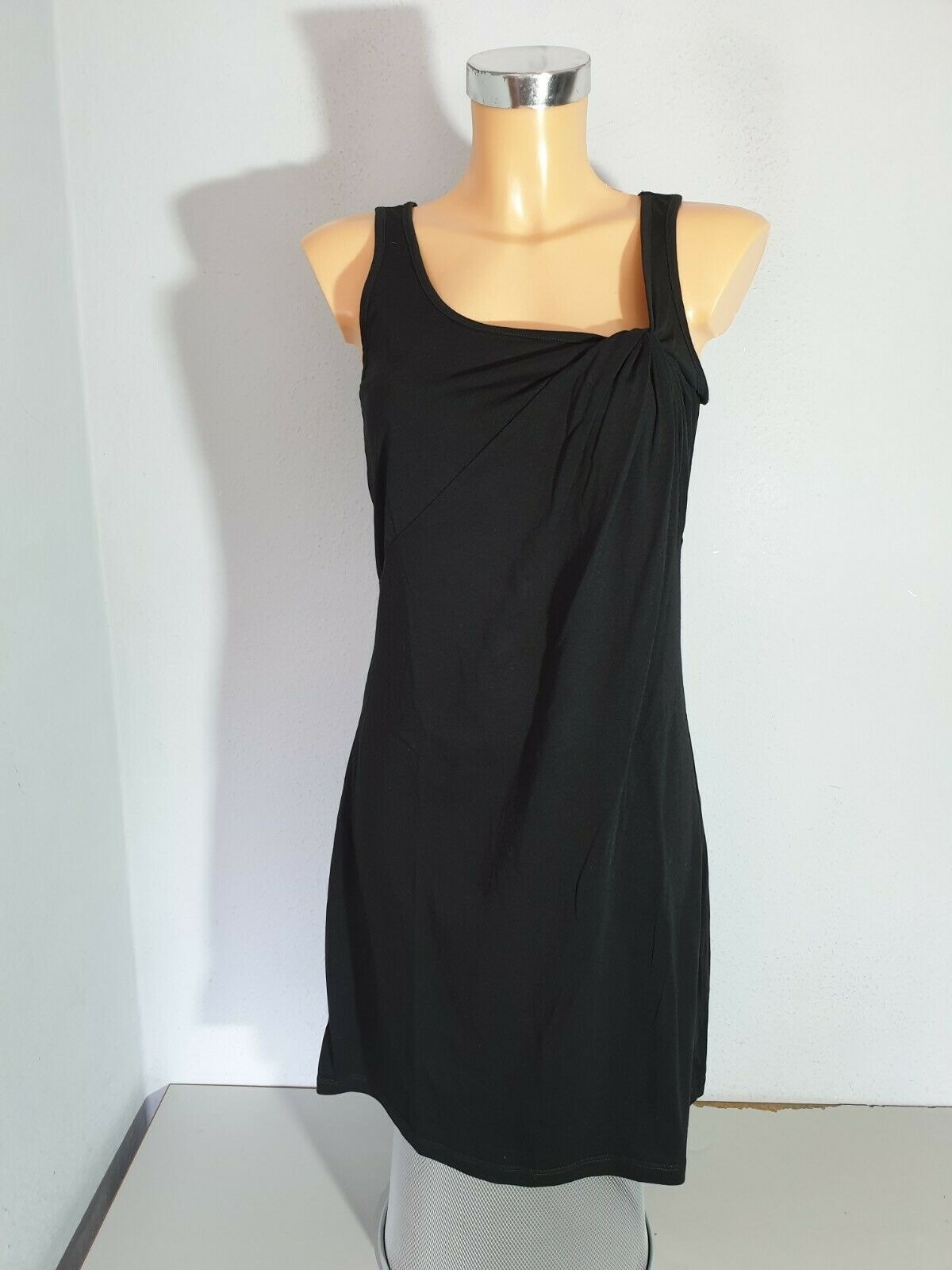 ESPRIT Kleid Sommerkleid Shirtkleid Gr. S / M schwarz Baumwolle Träger NEU
