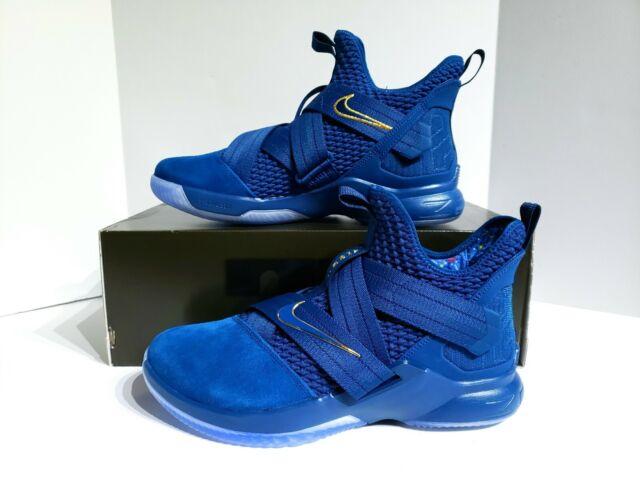 7782c2e1155b6 Nike Lebron Soldier XII SFG Agimat AO4054-400 Blue Aegean Shoes Mens SZ 10.5