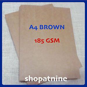 40 x a4 brown kraft paper sheet 185 gsm card natural recycled image is loading 40 x a4 brown kraft paper sheet 185 stopboris Gallery