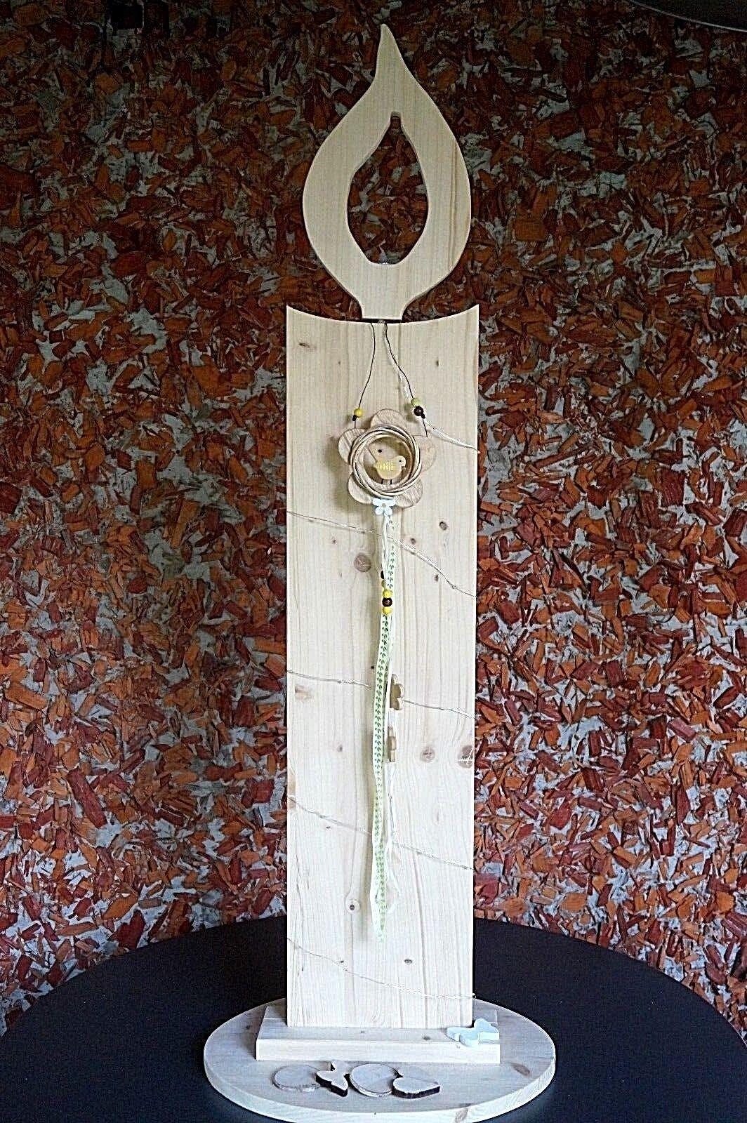 Kerze Holzsäule Holzkerze Stele Ständer Deko Deko Deko mit Teelicht Lichterkette Geschenk 636fc5