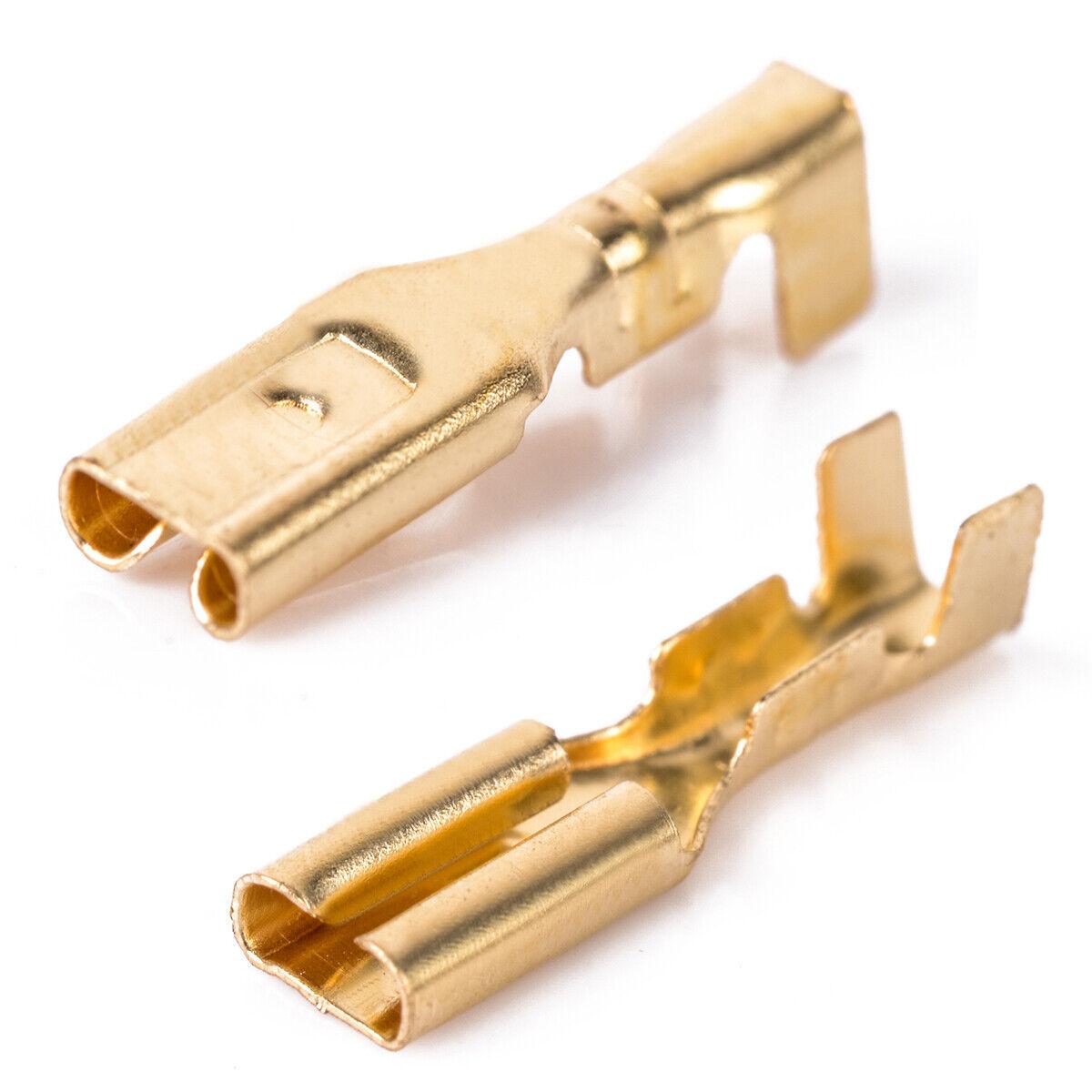 200*Kabelschuh Steckverbinder Flachsteckhülsen Flachstecker Spade Sleeve 6.3mm+